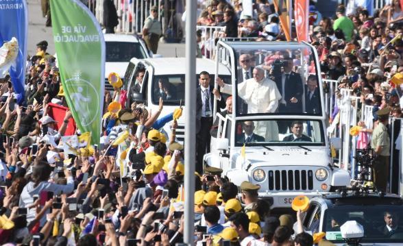 La misa del Papa Francisco en Santiago de Chile