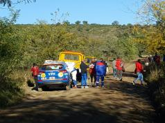 rally incidente shakedown