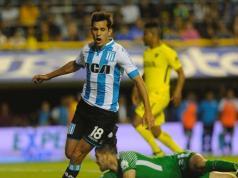 Solari grita el segundo gol de Racing en la Bombonera.