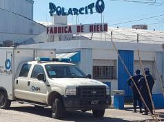La fábrica de hielo donde ocurrió el doble crimen.