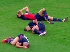 tres lesionados misma jugada hungria futbol
