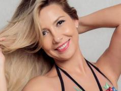 Fabiola Yáñez, la periodista y actriz que acompaña al precandidato a presidente de los K, Alberto Fernández.