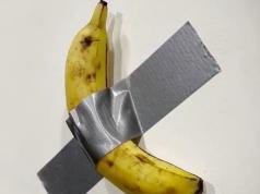 obra banana pared cinta