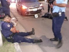 Los agentes volvían a la base de patrullaje de motocicletas de Los Carolinos.