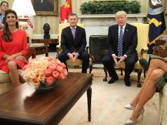 Macri y Awada fueron recibidos por el matrimonio Trump en la Casa Blanca.