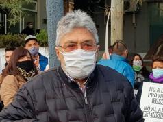 Pihen protestó este viernes contra la reforma previsional.