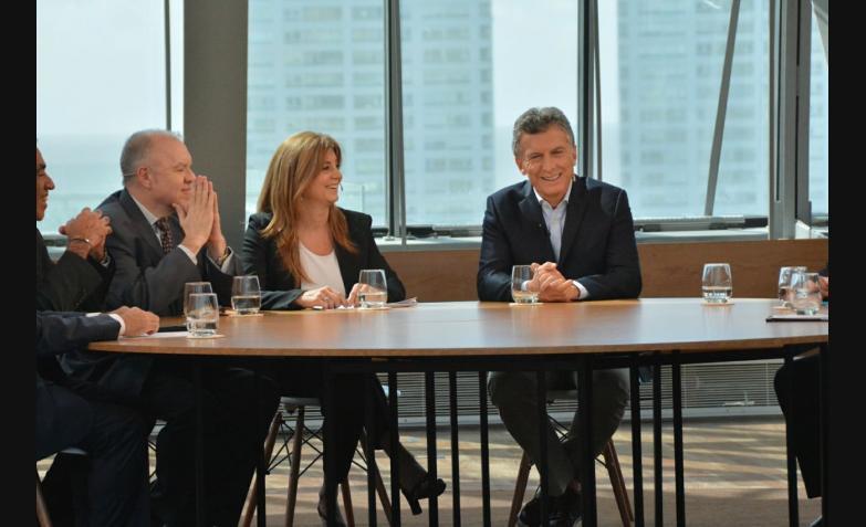 Fabiana Dal Pra con Mauricio Macri