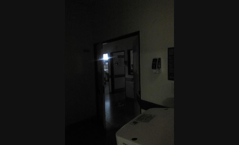 Hospital de niños sin luz en varios sectores.