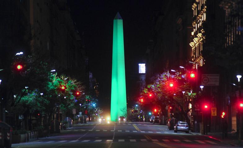 El Obelisco de la ciudad de Buenos Aires.
