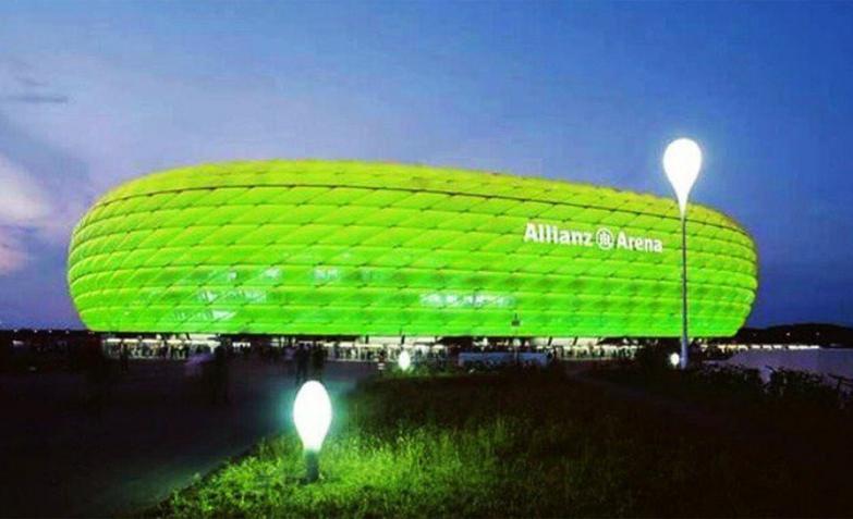 El estadio Allianz Arena de Munich, Alemania.