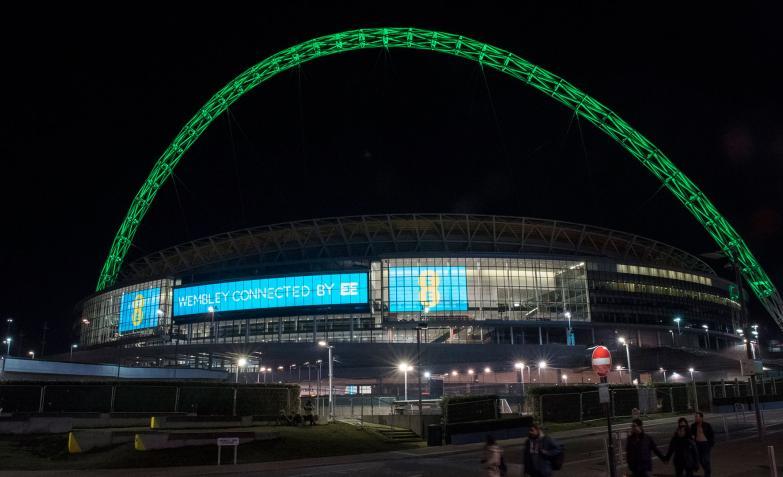 El estadio de Wembley, en Inglaterra.