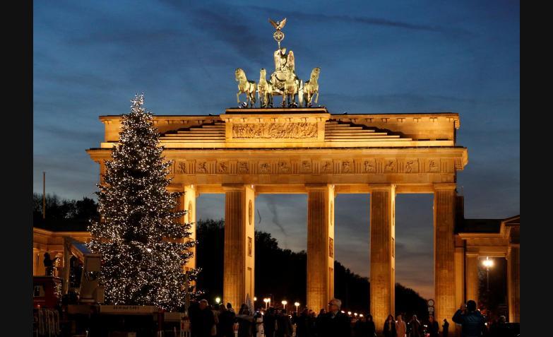 La puerta de Brandenburgo en Berlín.