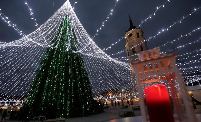 Manto de luces en Lituania.