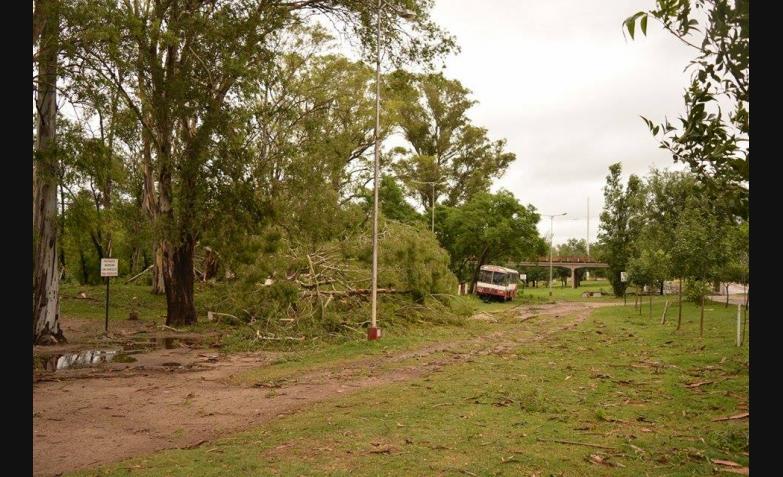 daños de la tormenta en Villa María