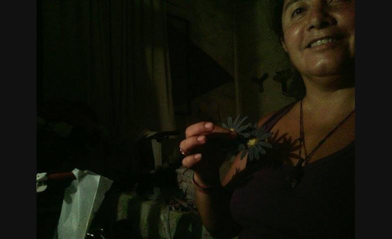 Alejandra Guevara nos muestra sus margaritas.