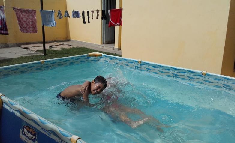 Guada y Mateo, la foto de Flavia Aguirre.