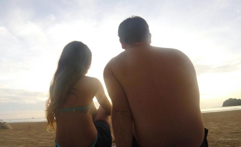Cielo y playa. Foto de Julita.