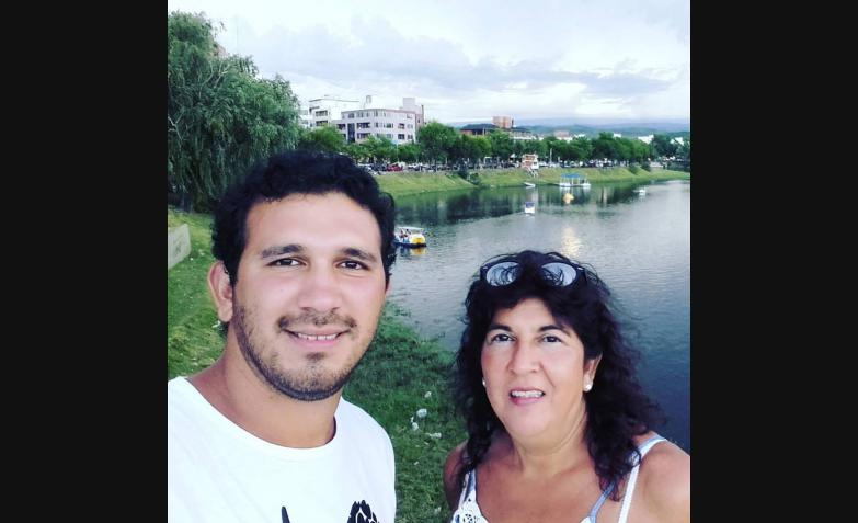 Sergio Rodríguez y la visita de su mamá.