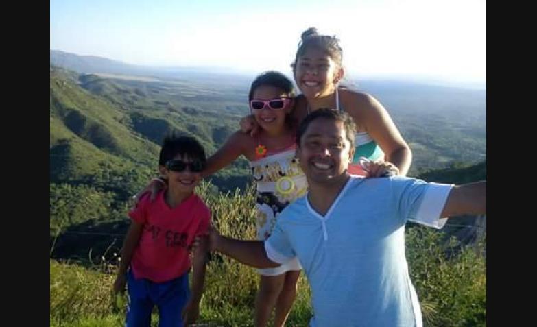 Verónica Pizarro y toda su familia.