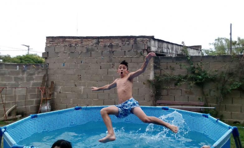 Salto en acción. Foto de Laura en El Doce y Vos.