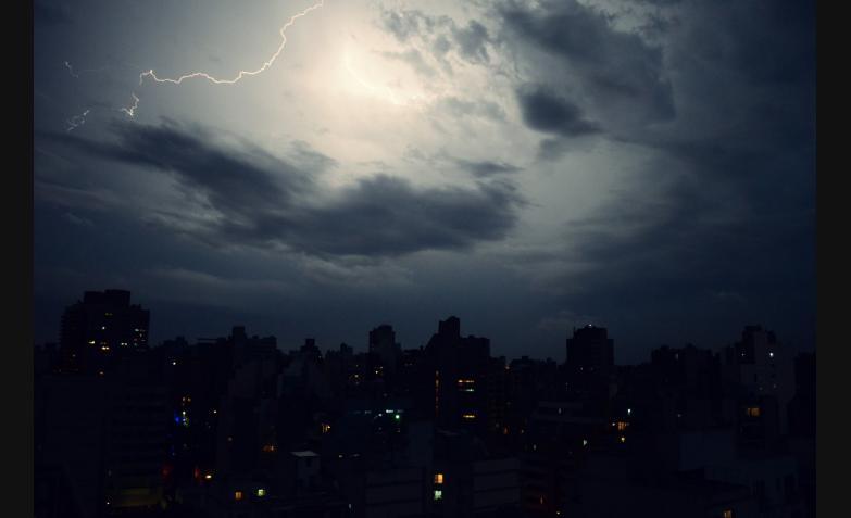 los rayos en el cielo cordobés
