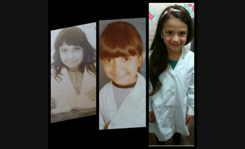 Yamila Soria nos hace un cruce de generaciones: mamá, hija y abuela.