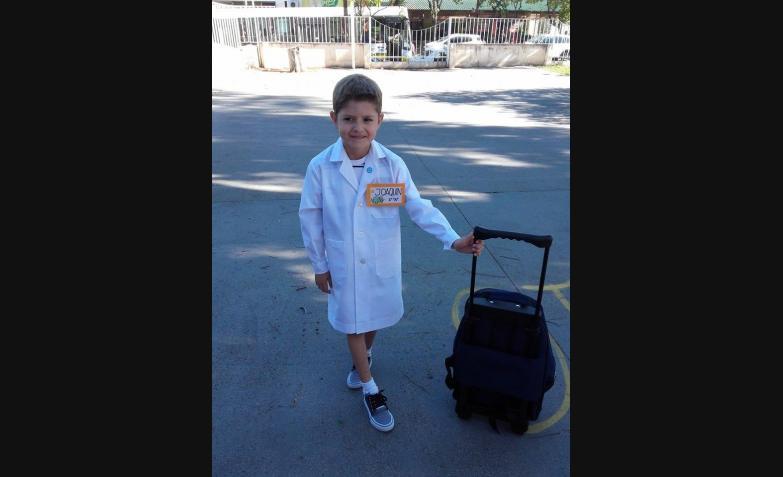Joaquín en su primer día. Foto de Damián Barceló.