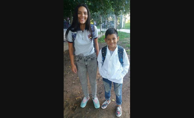 Gisela Alaniz y la foto de sus chicos.