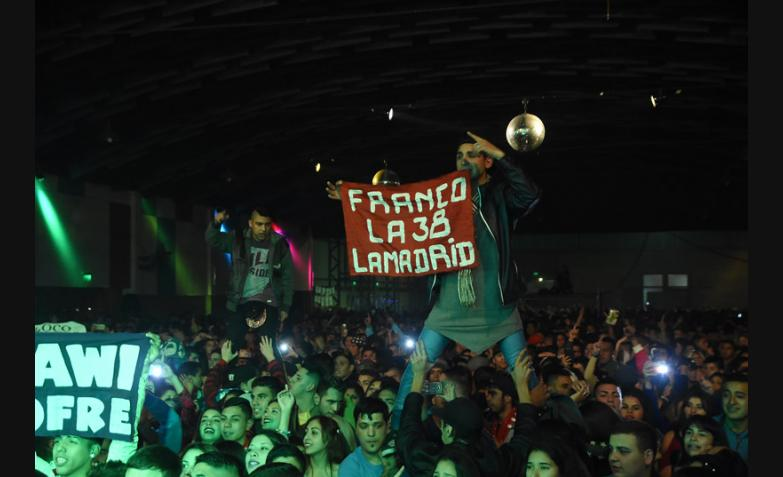 Damián Córdoba en el Estadio del Centro