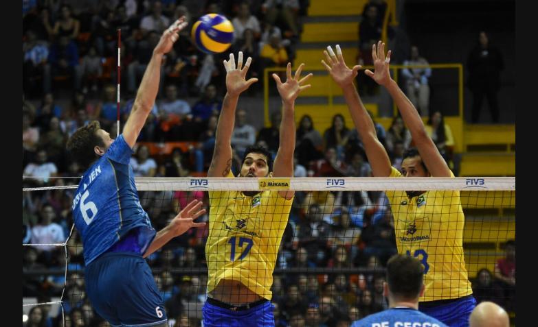 Voley Argentina Brasil en el Orfeo