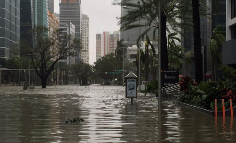 huracán Irma en Miami