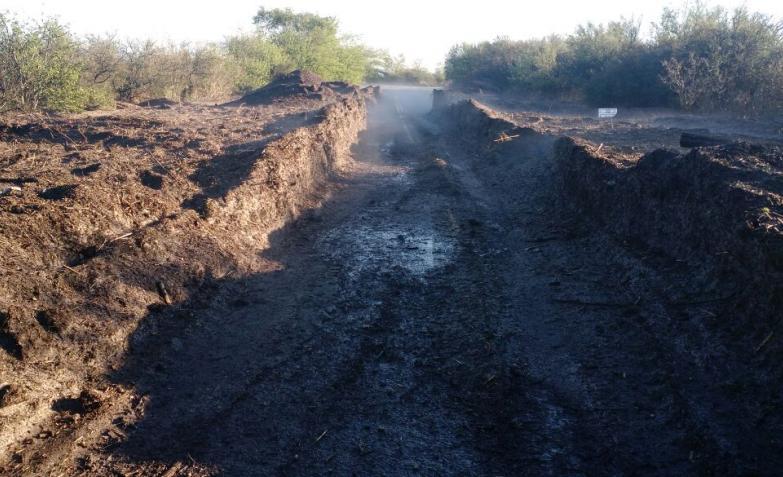 la cruz, el día después del granizo que colapsó la ruta