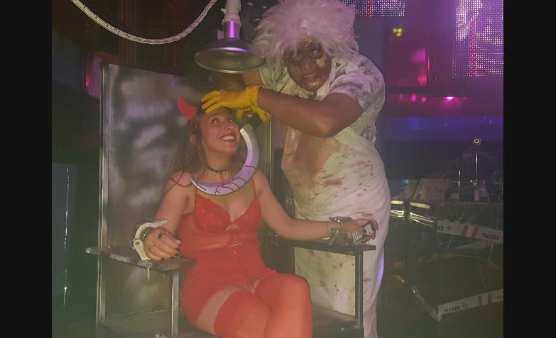 La Barra en los festejos de Halloween en Sala del Rey.