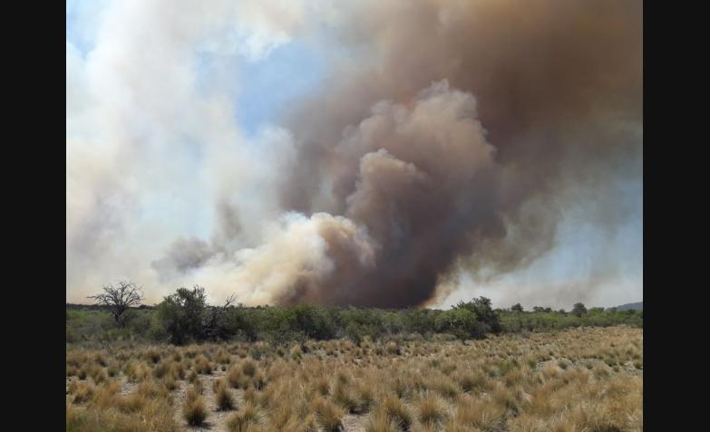 incendio en guasapampa