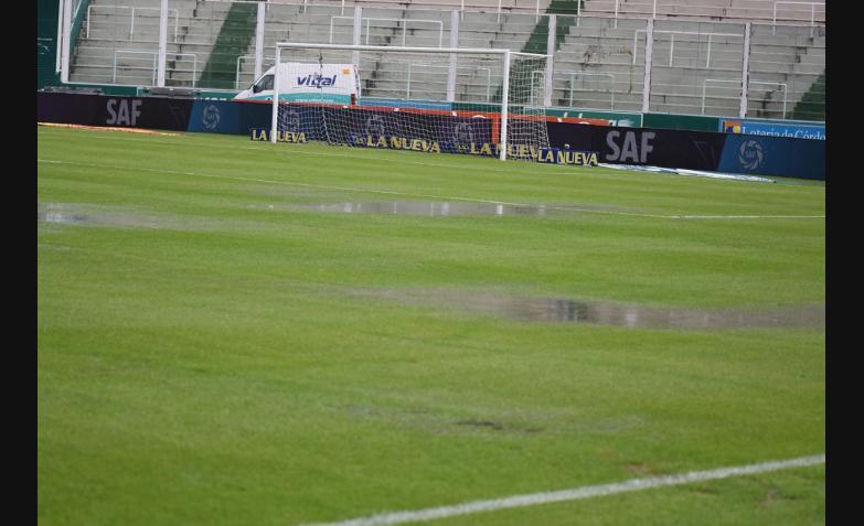 estadio kempes talleres estudiantes de la plata lluvia cancha inundada