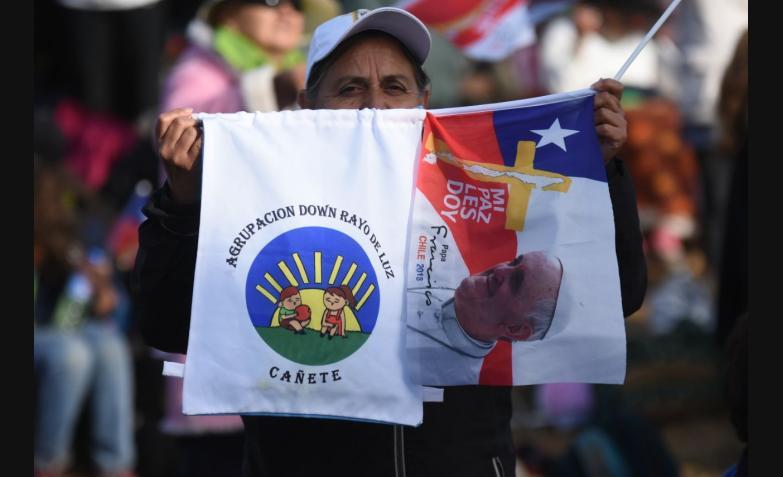 la misa del Papa Francisco en Temuco, Chile