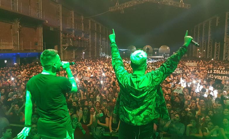El gran festejo del cumple del Chino Herrera en Plaza de la Música