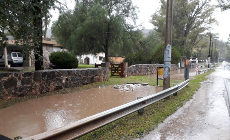 Ruta E55 temporal lluvia cordoba