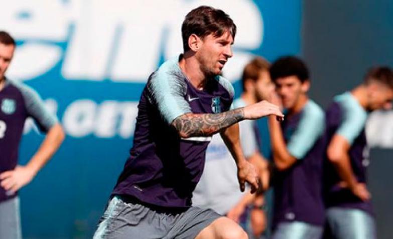 Messi afeitado
