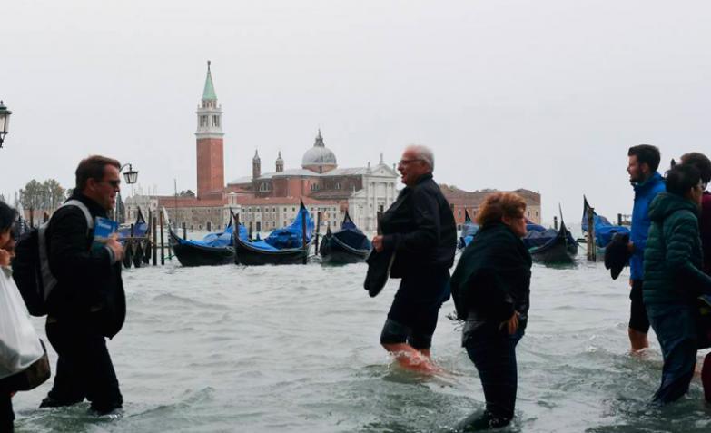 La inundación en Venecia