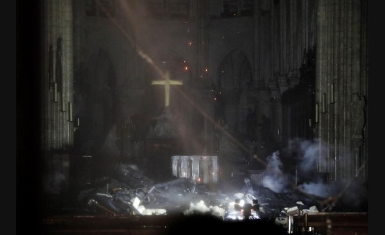 asi quedo catedral de notre dame paris francia tras incendio