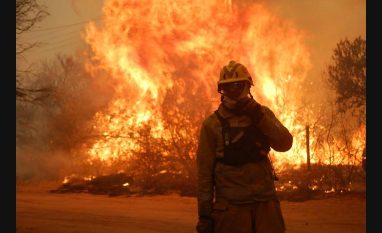 El fuego no da tregua y cientos de bomberos y hasta vecinos intentan combatirlo. / Foto: El Doce