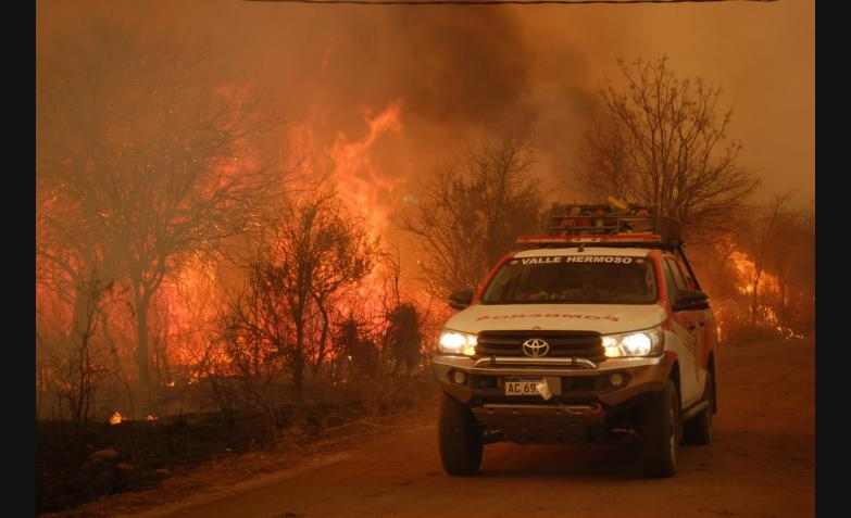 Los incendios azotan a Córdoba.