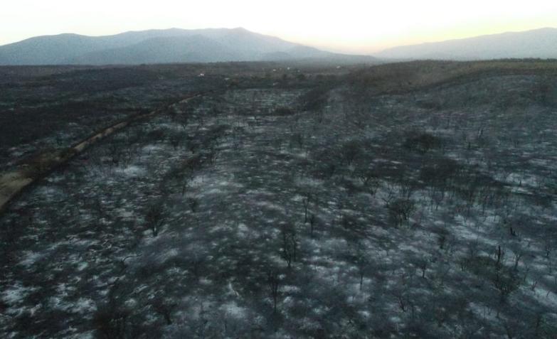 incendios sierras cordoba fuego charbonier punilla