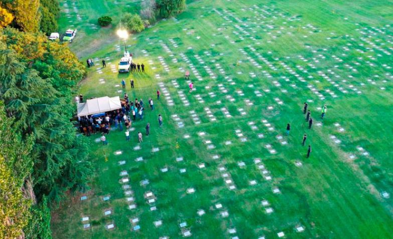 Diego-Maradona-Sepelio-Cementerio-Bella-Vista