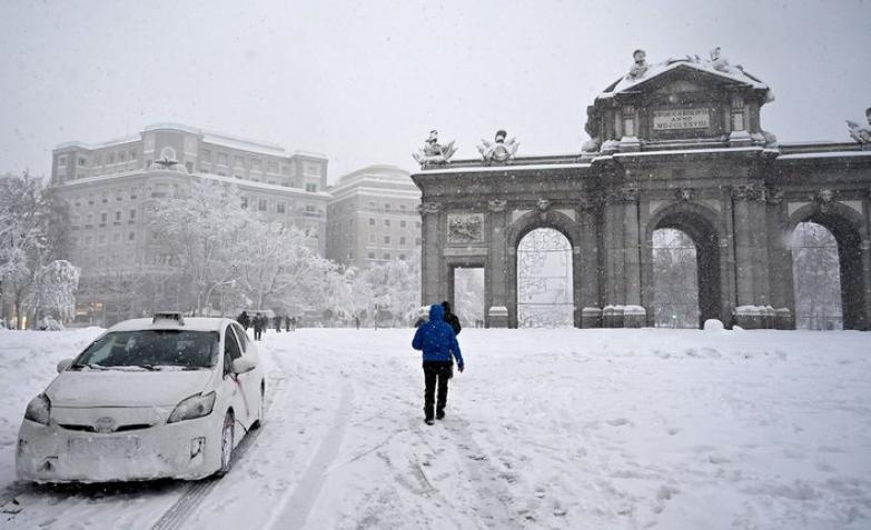 Madrid nevada historica espana