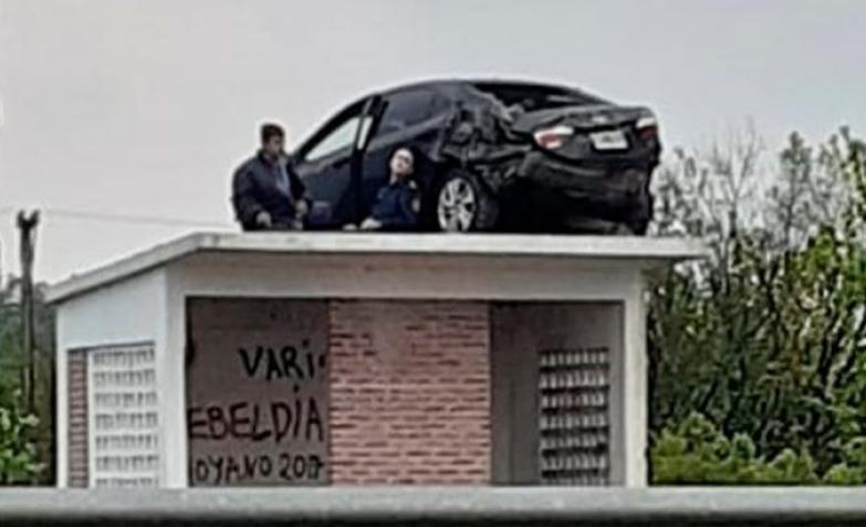auto garita accidente