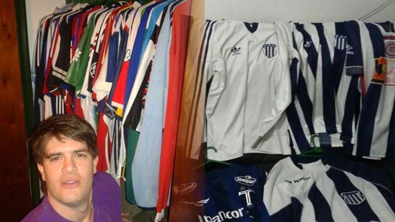 Sebastián Mico tiene 32 años y hace 20 que recolecta camiseta de clubes de  fútbol de todo el mundo c388a60eedc