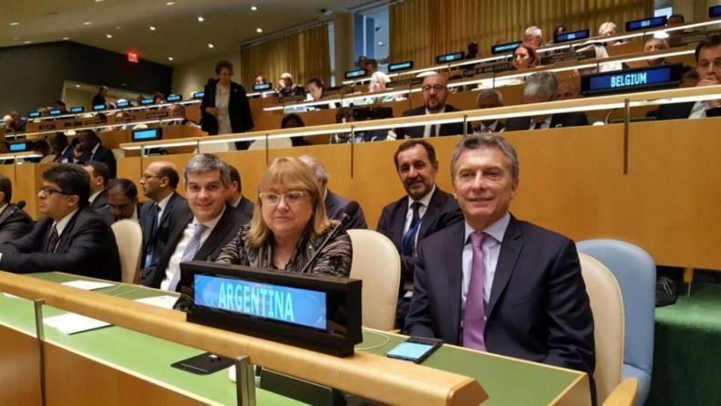 Macri Malcorra y Peña en la ONU