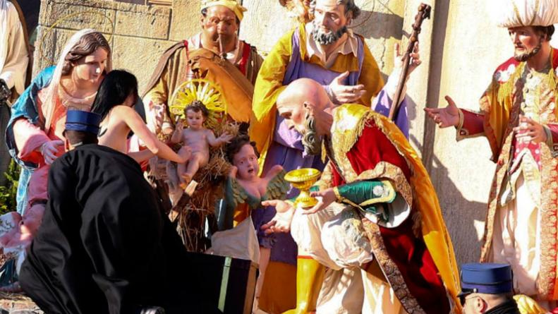 Fotos De El Pesebre De Jesus.Grito Dios Es Mujer E Intento Robar El Nino Jesus Del